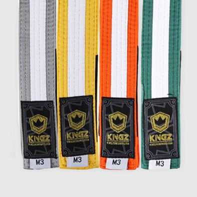 Kingz Kids Belts w/ White Stripe - Fighters Market