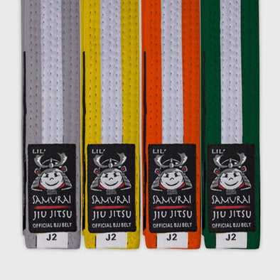 Lil Samurai Kids Belt - White Stripe - Fighters Market
