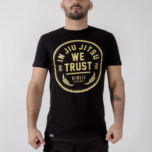 Newaza In Jiu Jitsu We Trust Tee - Fighters Market