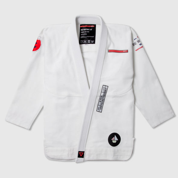 VHTS Be Water Kimono - White - Fighters Market