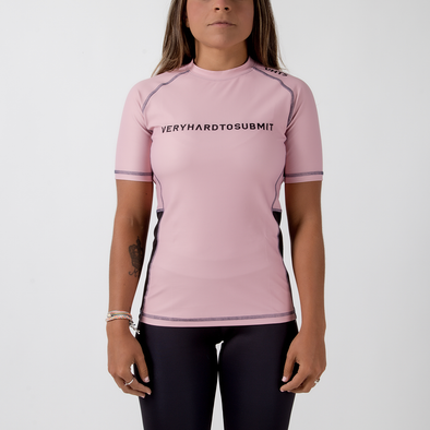 VHTS 2019 Pink ( Female Fitting ) S/S Rash Guard - Fighters Market