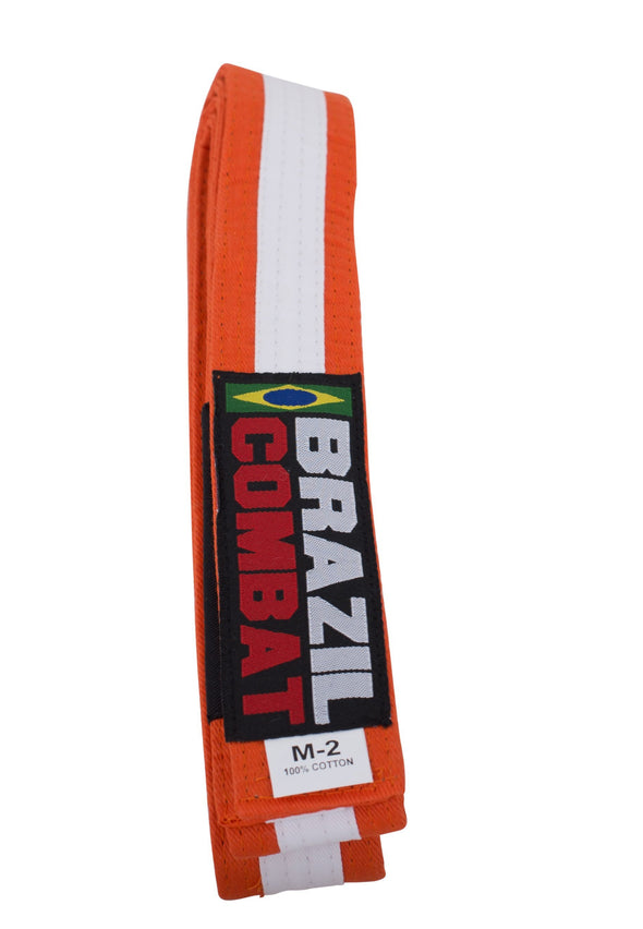 Brazil Combat WHITE STRIPE Kid's Belts - Fighters Market