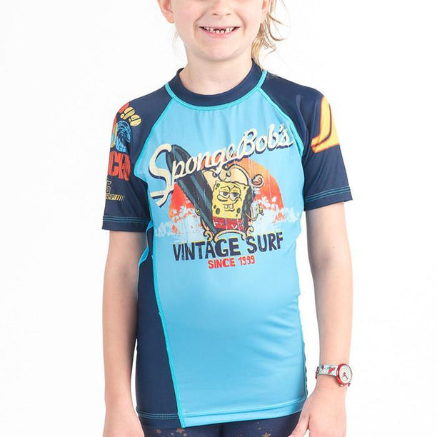 Fusion FG Sponge Bob Vintage Surf Kids Rash Guard - Fighters Market