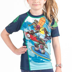 Fusion Fight Gear No-Gi & Compression L Fusion FG TMNT Sewer Surfin' Kids Rash Guard