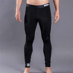 Scramble All Black Grappling Spats - Fighters Market