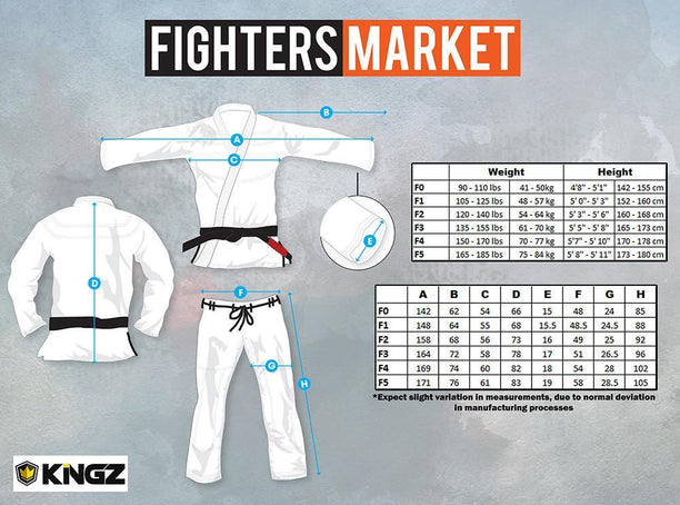 Kingz Classic Womens Jiu Jitsu Gi - Fighters Market
