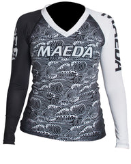Maeda No-Gi & Compression XS / Black Maeda Women's Ranked Rash Guard
