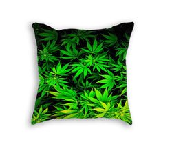 MARIJUANA LEAVES PILLOW - Forever Rich Clothing
