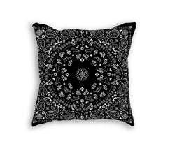 BLACK BANDANA PILLOW - Forever Rich Clothing