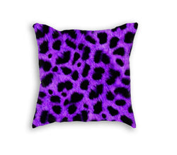 PURPLE LEOPARD PILLOW - Forever Rich Clothing