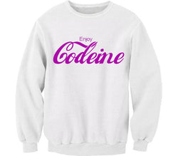 ENJOY CODEINE WHITE CREWNECK - Forever Rich Clothing