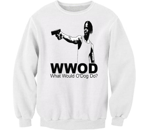 WWOD WHITE CREWNECK - Forever Rich Clothing