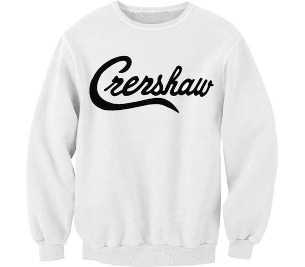 CRERSHAW WHITE CREWNECK - Forever Rich Clothing
