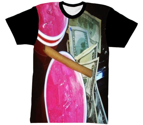 CODEINE SHIRT BLACK SLEEVE - Forever Rich Clothing
