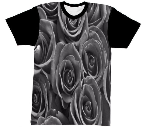 ROSE SHIRT BLACK SLEEVE - Forever Rich Clothing