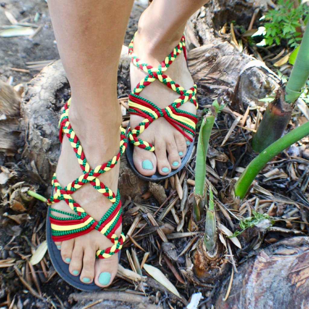 Colorfull Handmade Knitted Rope Woman's Sandals
