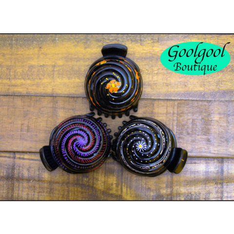 Shell Hair Clip, Hand Painted Hair Bun - Tuk Tuk Sandals