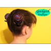 Octupus Hair Clip, Hand Painted Hair Bun