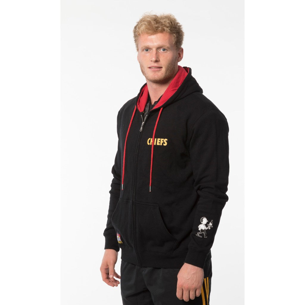 Chiefs Waikato Draught Zip Up Hoodie - Black