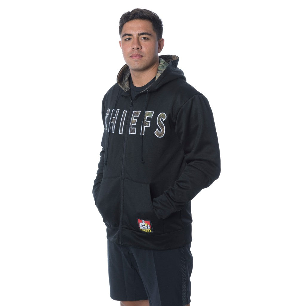 Chiefs Men's Zip Up Camo Hoodie
