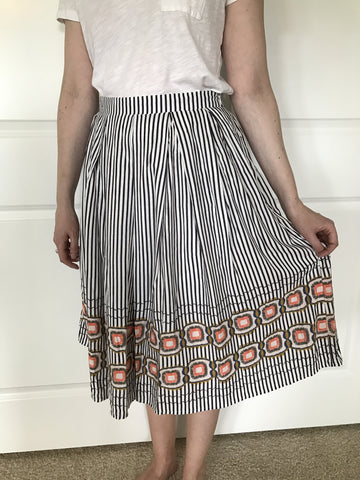 Striped black and white skirt