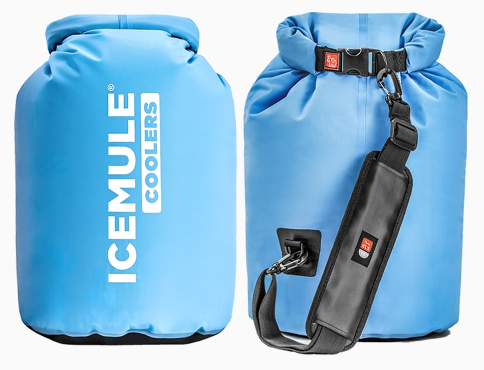 Icemule cooler front and back view