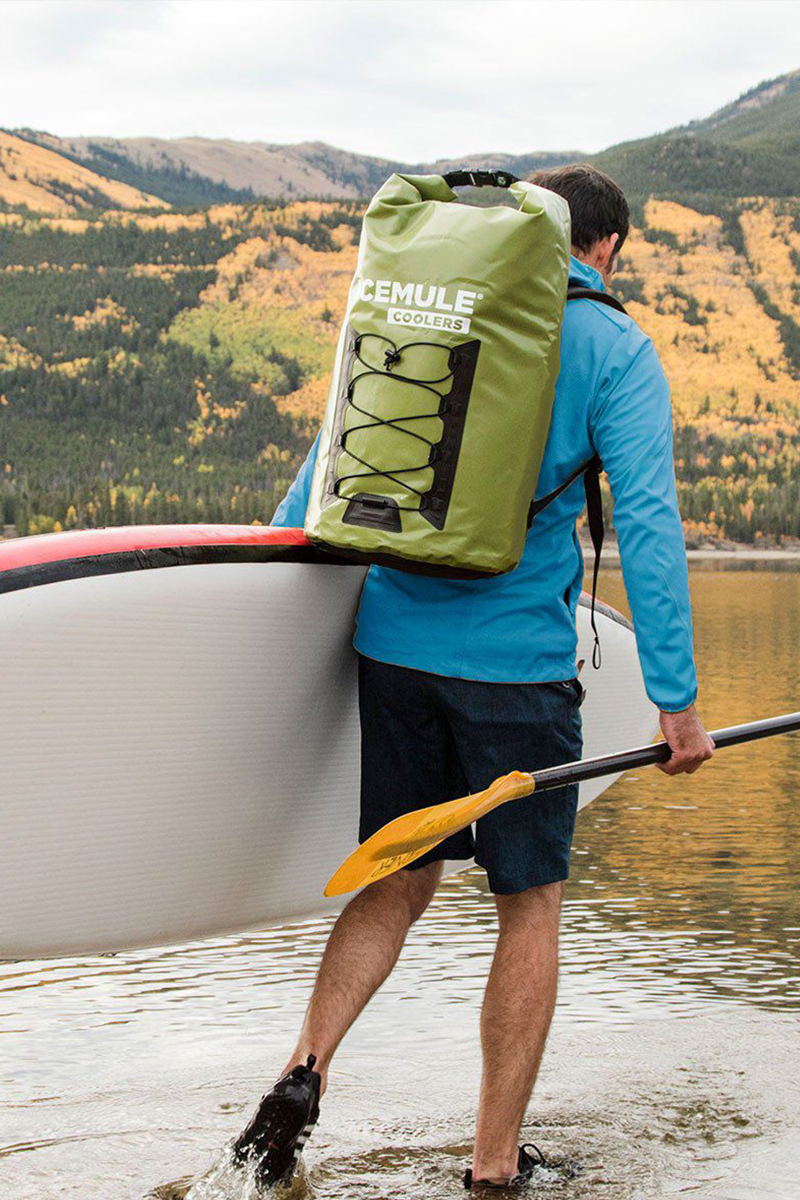 xx-large pro olive on back for paddleboarding