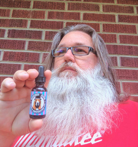 Beard brand ambassador Dale Blankenship AKA Gandalf with Backseat Boogie beard oil