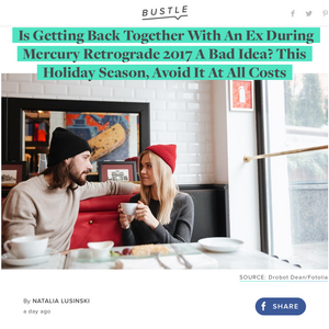 Gifted Astrology Talks Mercury Retrograde & Ex's with Bustle.com