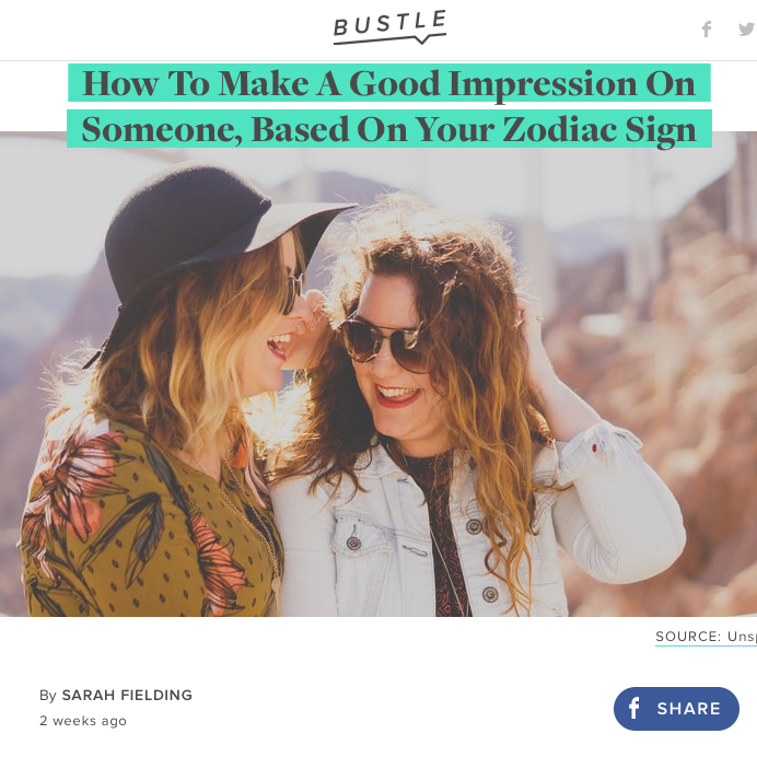 Gifted Astrology Tips On How To Make A Good Impression on Bustle.com