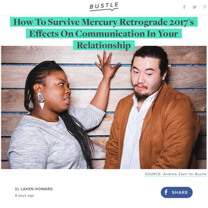 Gifted Astrology Talks Mercury Retrograde & Communication With Bustle.com