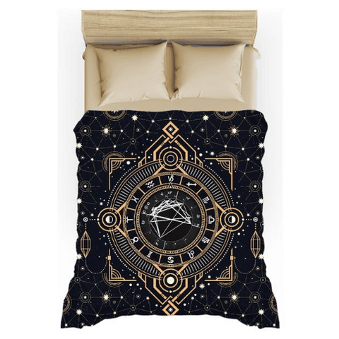 Art Deco Sky Custom Birth Chart Duvet Cover