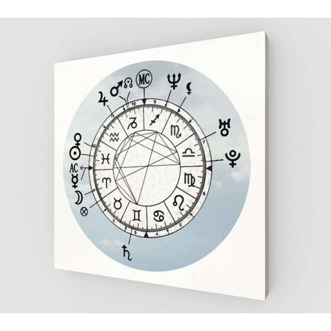 Light Sky Custom Birth Chart on Canvas