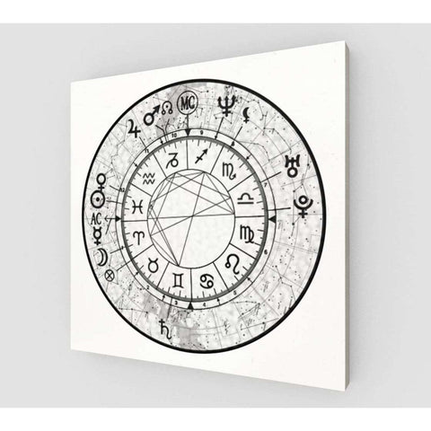 Constellation Sky Custom Astrology Chart on Canvas