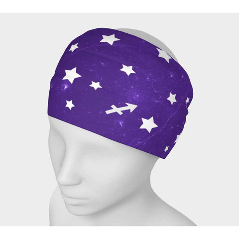 Sagittarius Purple Sky Headwrap