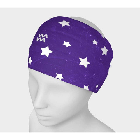 Aquarius Purple Sky Headwrap