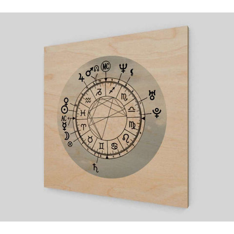 Light Sky Custom Birth Chart Wood Print