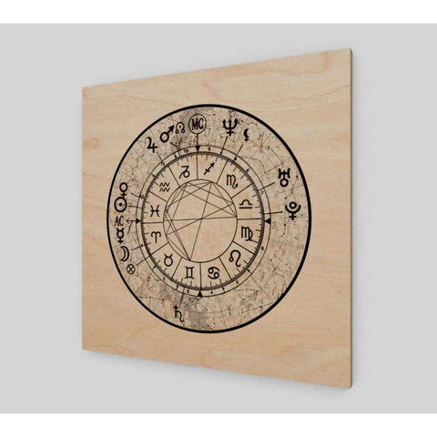 Constellation Sky Custom Astrology Chart Wood Print