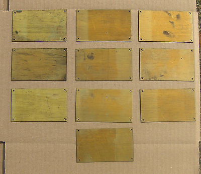 1900- 1960s PACKARD, CADILLAC, LINCOLN, BUICK, MULTI MAKES BLANK ENGINE  TAGS - 10 - NOS