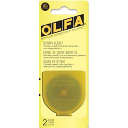 OLFA 45mm Rotary Cutter Blade - 2 Pack