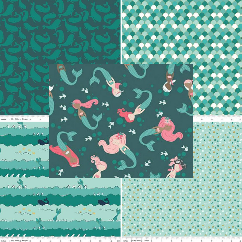 Ahoy Mermaids - Fat Quarter Bundle