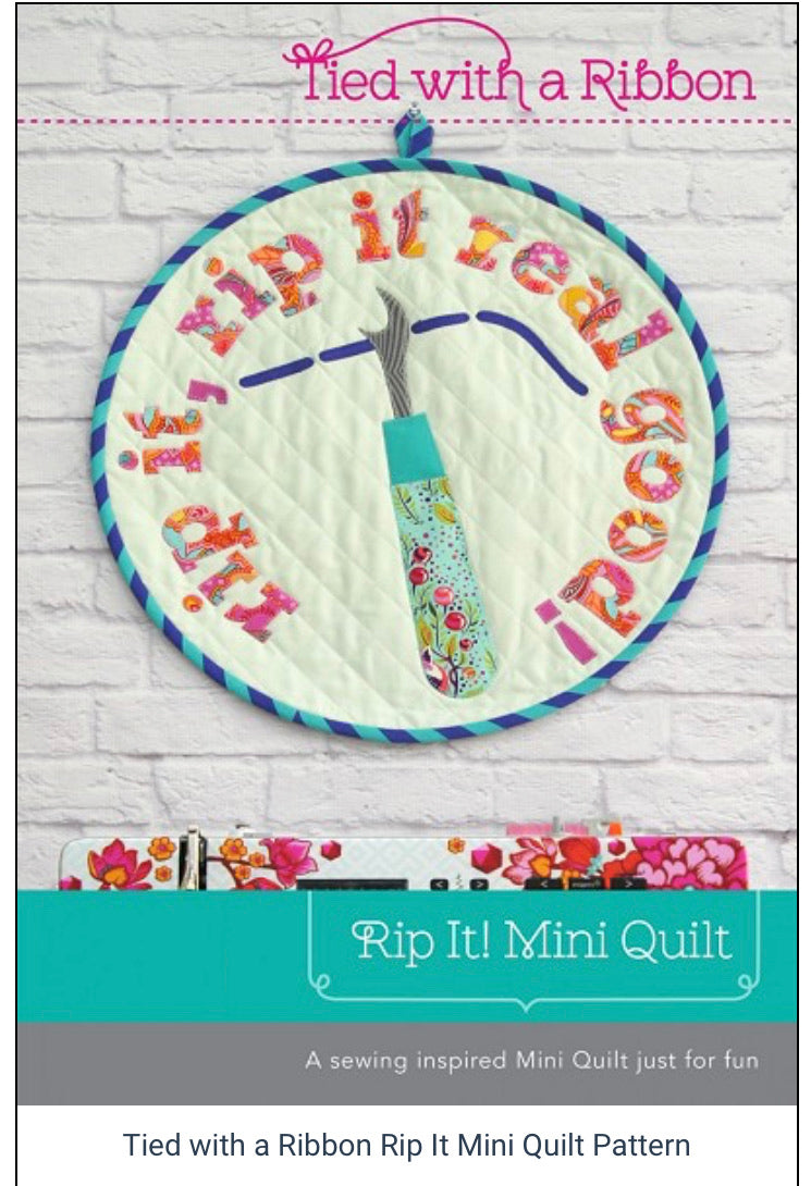 Rip It Mini Quilt by Tied With a Ribbon