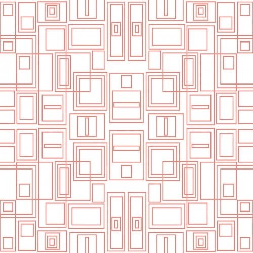 Good Vibes - Circuit Board - Coral/ White