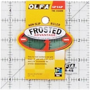 "OLFA Frosted 4.5"" x 4.5"" ruler"