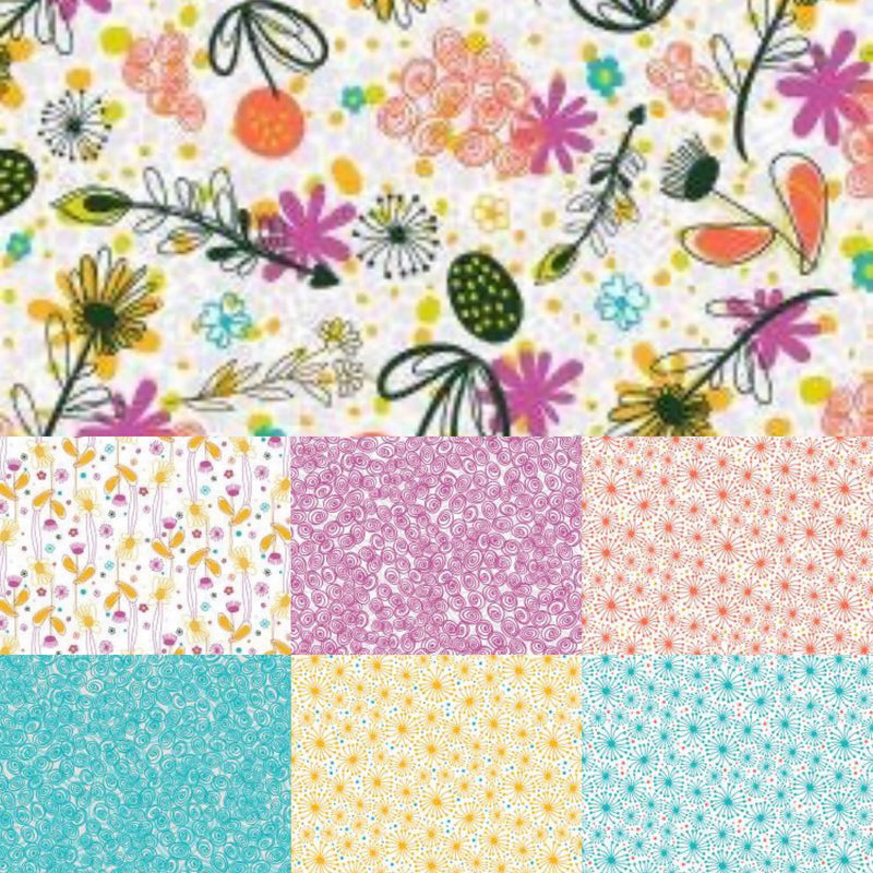 Flower Doodles - Fat Quarter Bundle