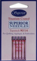 Superior Titanium-coated Topstitch 90/14 Needles