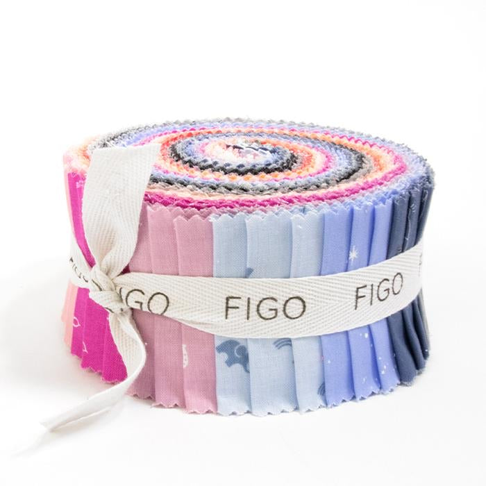 "Lucky Charms Twilight 2 1/2"" strips by Figo Fabrics"