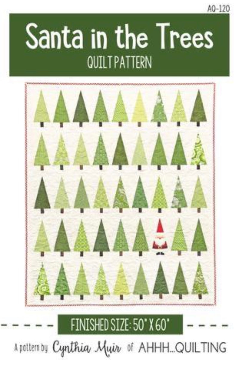 Santa in the Trees Kit by Cynthia Muir of Ahh ... Quilting