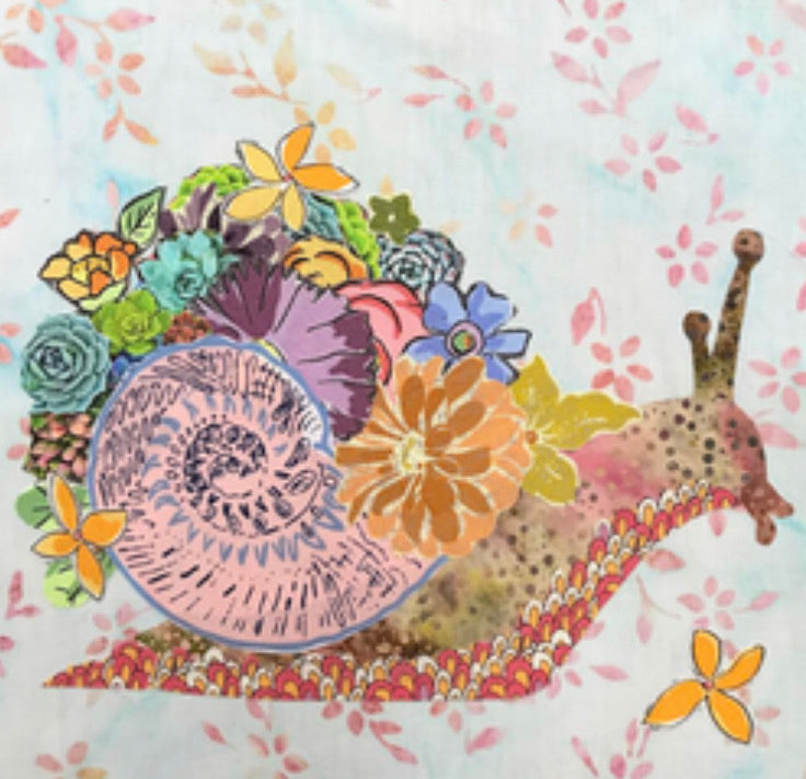 Shellie Snail Collage Pattern by Laura Heine