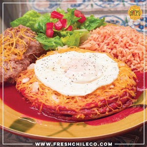 Red Enchiladas (Stacked)